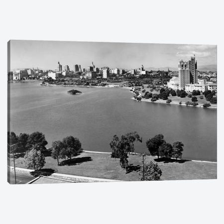 1950s With Lake Merritt In Foreground Skyline View Of Oakland California USA 3-Piece Canvas #VTG368} by Vintage Images Canvas Art Print