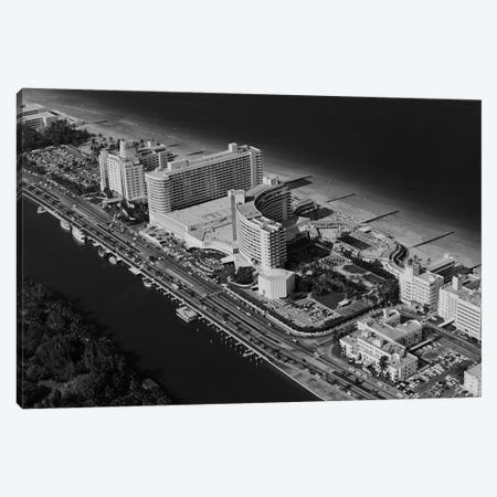 1950s-1960s Aerial View Fontainebleau Hotel Miami Beach Florida USA Canvas Print #VTG369} by Vintage Images Canvas Art Print