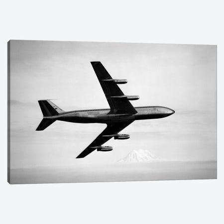 1950s-1960s Boeing 707 Jet Airplane Canvas Print #VTG371} by Vintage Images Canvas Artwork