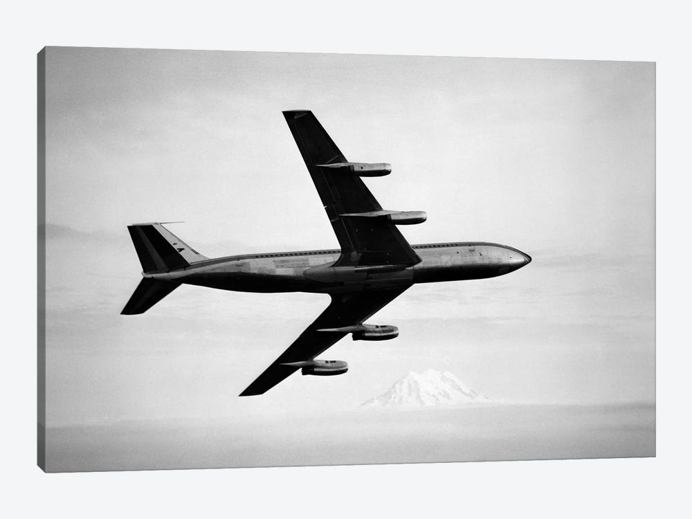 1950s-1960s Boeing 707 Jet Airplane by Vintage Images 1-piece Canvas Wall Art