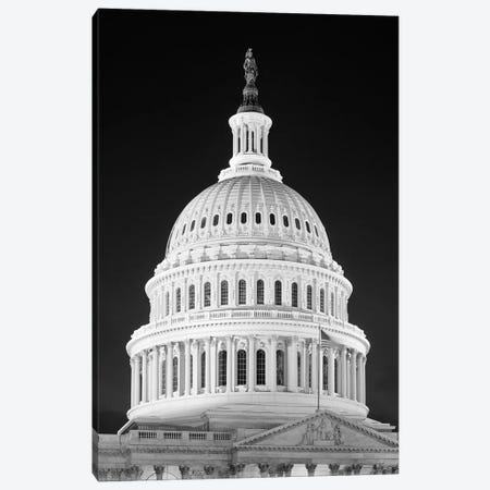 1950s-1960s Dome Of The Capitol Building At Night Washington Dc USA Canvas Print #VTG373} by Vintage Images Canvas Artwork