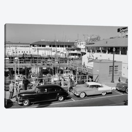 1950s-1960s Fisherman's Wharf San Francisco Ca USA Canvas Print #VTG377} by Vintage Images Canvas Print