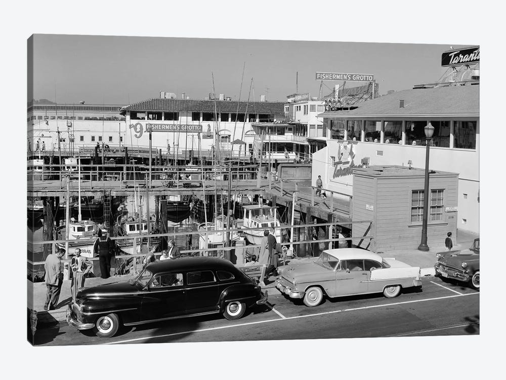 1950s-1960s Fisherman's Wharf San Francisco Ca USA by Vintage Images 1-piece Canvas Artwork