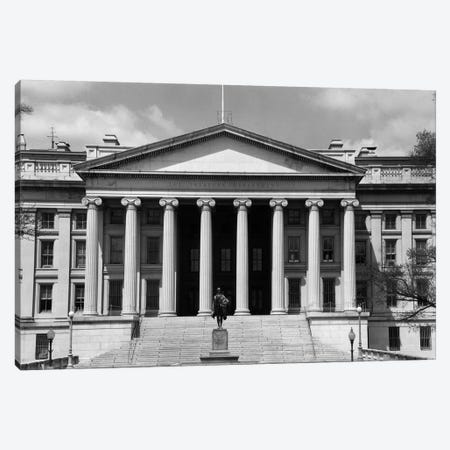 1950s-1960s Front Of The Treasury Building Washington Dc USA Canvas Print #VTG378} by Vintage Images Canvas Wall Art