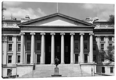 1950s-1960s Front Of The Treasury Building Washington Dc USA Canvas Art Print