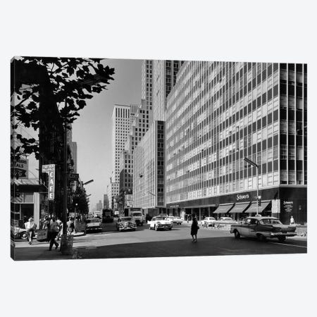 1950s-1960s Looking South On Third Avenue At 47th Street Manhattan New York City Ny USA Canvas Print #VTG380} by Vintage Images Canvas Print