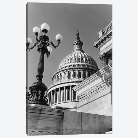 1950s-1960s Low Angle View Of The Capitol Building Dome And Architectural Details Washington Dc USA Canvas Print #VTG381} by Vintage Images Canvas Print
