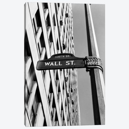 1950s-1960s Wall Street Sign Canvas Print #VTG387} by Vintage Images Canvas Artwork
