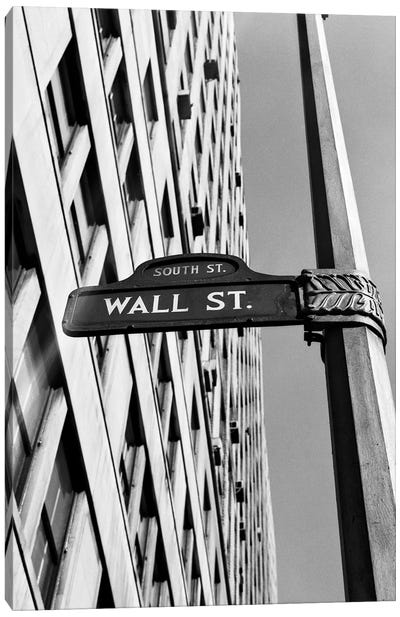 1950s-1960s Wall Street Sign Canvas Art Print