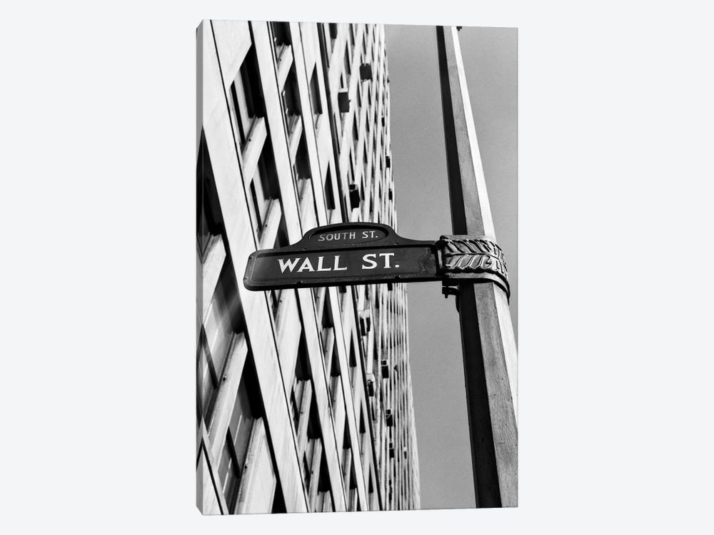 1950s-1960s Wall Street Sign by Vintage Images 1-piece Art Print