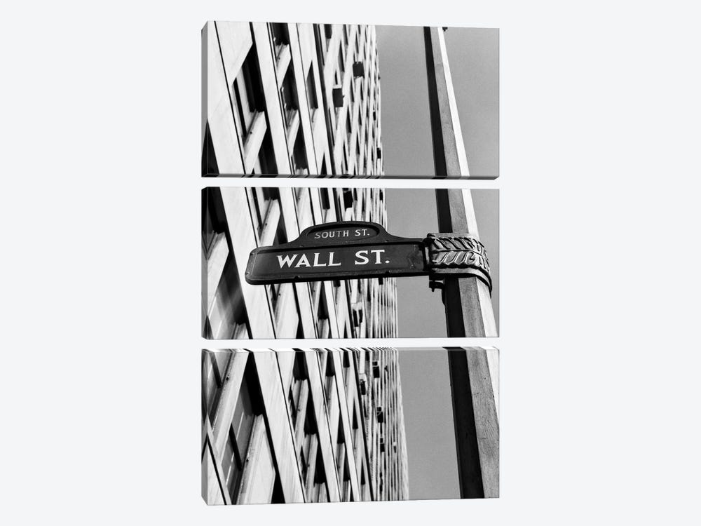 1950s-1960s Wall Street Sign by Vintage Images 3-piece Art Print
