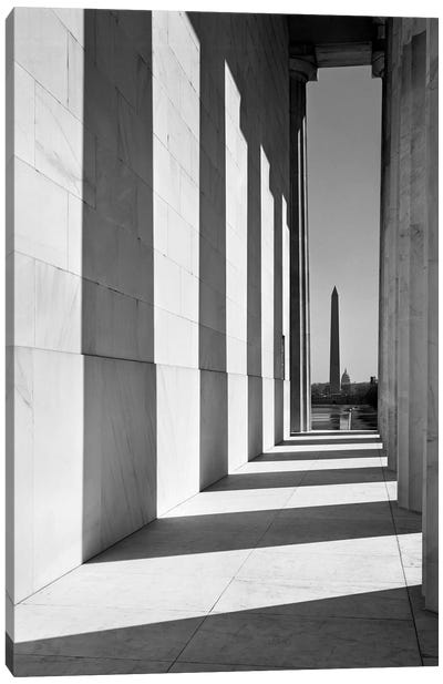 1950s-1960s Washington Monument Seen From Lincoln Memorial Washington Dc USA Canvas Art Print