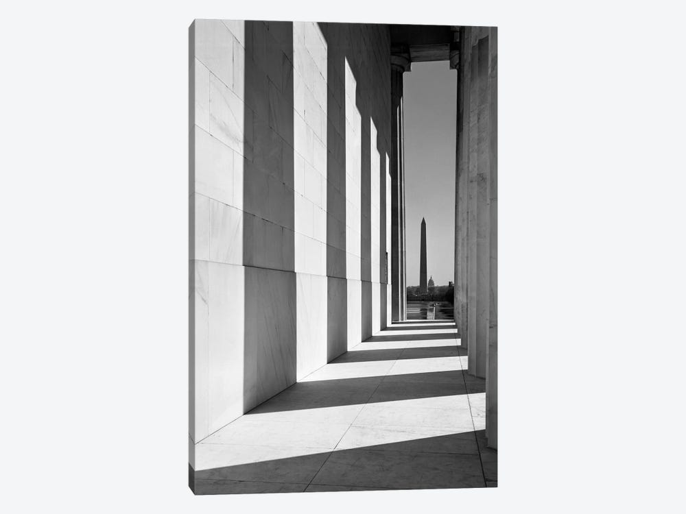 1950s-1960s Washington Monument Seen From Lincoln Memorial Washington Dc USA by Vintage Images 1-piece Canvas Art