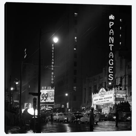 1953 Pantages Theater Academy Awards Ceremony First Televised Broadcast Los Angeles California USA 3-Piece Canvas #VTG390} by Vintage Images Canvas Wall Art