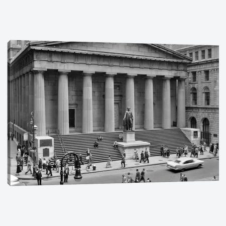 1958 Wall Street Federal Hall National Memorial New York City USA Canvas Print #VTG392} by Vintage Images Canvas Wall Art