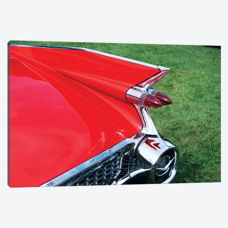 1959 Cadillac Tail Fin And Tail Light 3-Piece Canvas #VTG393} by Vintage Images Canvas Wall Art