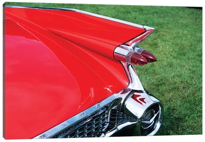 1959 Cadillac Tail Fin And Tail Light Canvas Art Print