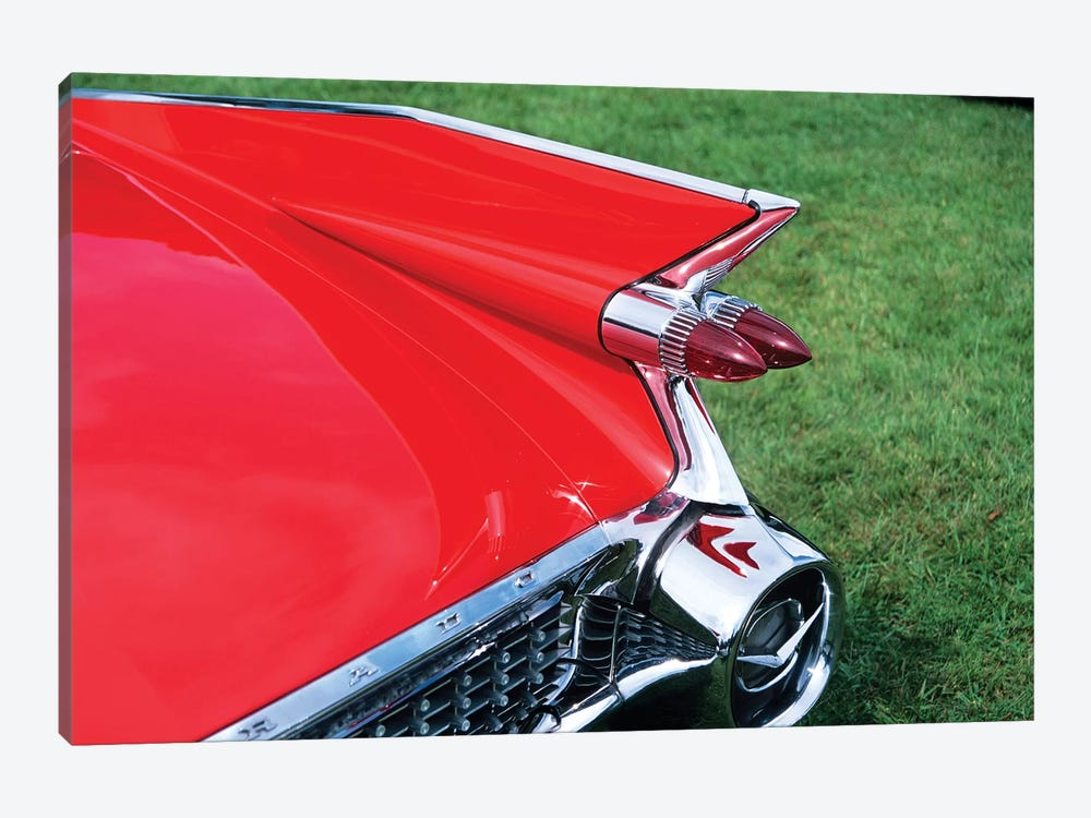 1959 Cadillac Tail Fin And Tail Light by Vintage Images 1-piece Canvas Wall Art