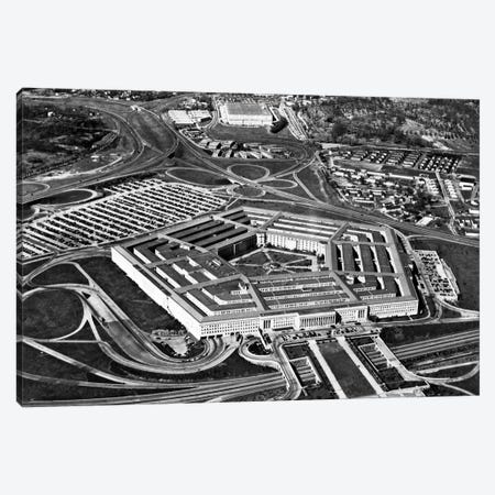 1960s Aerial View Of Army Pentagon And Navy Annex Arlington Virginia USA Canvas Print #VTG397} by Vintage Images Canvas Print