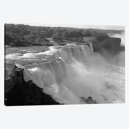 1960s American Falls Portion Of Niagara Falls New York USA Canvas Print #VTG398} by Vintage Images Canvas Wall Art