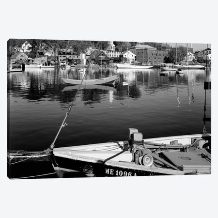 1960s Boats Dock Harbor Maine USA Canvas Print #VTG407} by Vintage Images Canvas Print