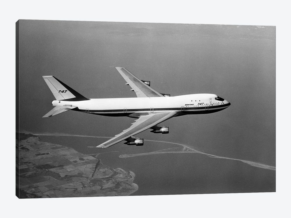 1960s Boeing 747 In Flight by Vintage Images 1-piece Art Print
