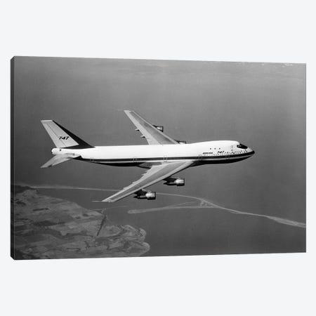 1960s Boeing 747 In Flight Canvas Print #VTG408} by Vintage Images Canvas Artwork