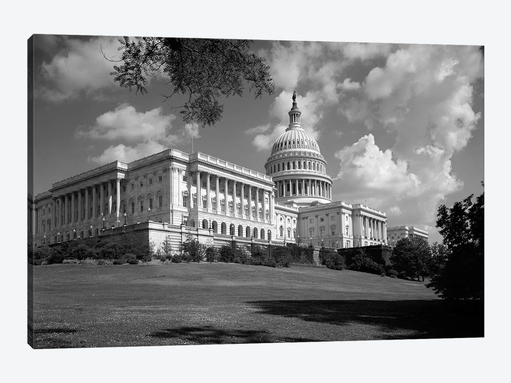 1960s Capitol Building Dome Senate House Representatives Congress Washington Dc USA by Vintage Images 1-piece Canvas Print