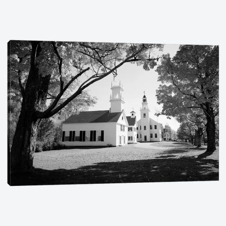 1960s Church And Local Buildings In The Town Square Of Washington New Hampshire USA 3-Piece Canvas #VTG415} by Vintage Images Canvas Art