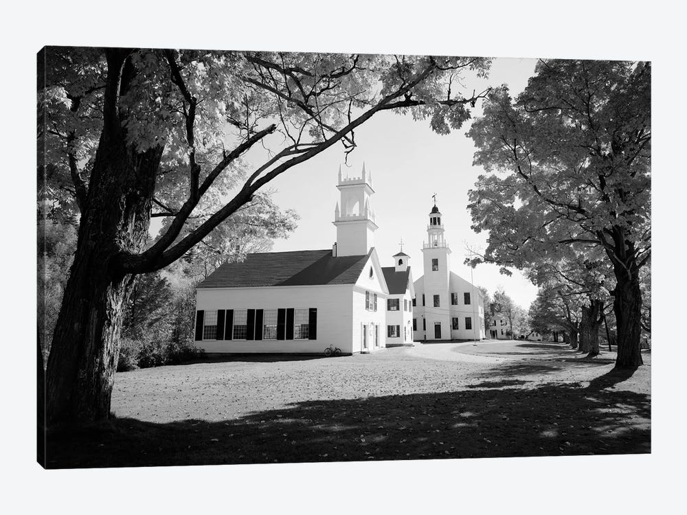 1960s Church And Local Buildings In The Town Square Of Washington New Hampshire USA by Vintage Images 1-piece Art Print
