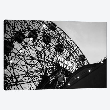 1920s Looking Up At Wonder Wheel Amusement Ride Coney Island New York USA Canvas Print #VTG42} by Vintage Images Canvas Wall Art
