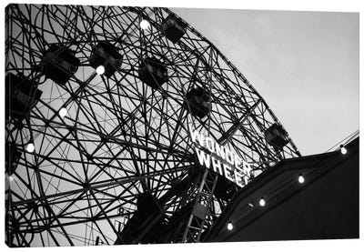 1920s Looking Up At Wonder Wheel Amusement Ride Coney Island New York USA Canvas Art Print