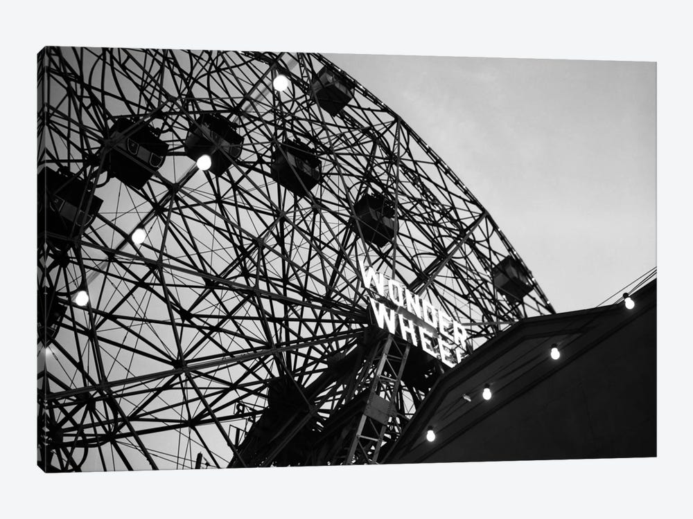 1920s Looking Up At Wonder Wheel Amusement Ride Coney Island New York USA by Vintage Images 1-piece Canvas Wall Art