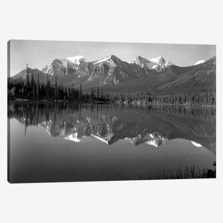 1960s Lake In Rocky Mountains Canada North Of Lake Louise On Jasper Highway Canvas Print #VTG432} by Vintage Images Canvas Print