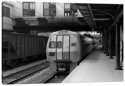 1960s Metroliner Passenger Train Stopped At Station Canvas Art Print