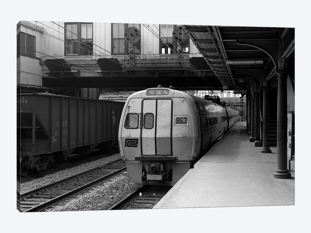 1960s Metroliner Passenger Train Stopped At Station by Vintage Images 1-piece Canvas Artwork