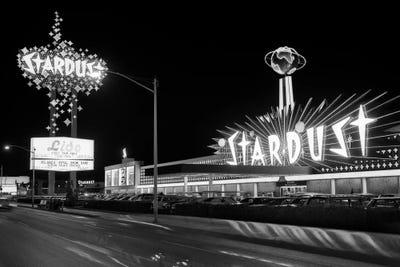 1960s Night Scene Of The Stardust Casino Las Vintage