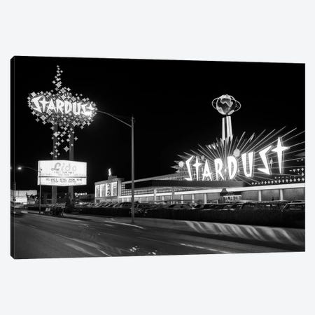 1960s Night Scene Of The Stardust Casino Las Vegas Nevada USA Canvas Print #VTG441} by Vintage Images Canvas Artwork