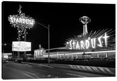 1960s Night Scene Of The Stardust Casino Las Vegas Nevada USA Canvas Art Print