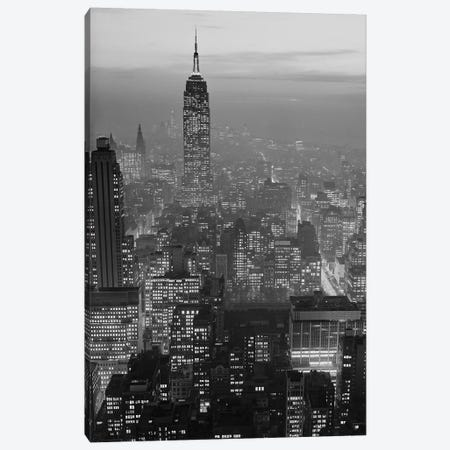 1960s Night View Manhattan Empire State Building Looking South From Midtown Canvas Print #VTG442} by Vintage Images Canvas Artwork