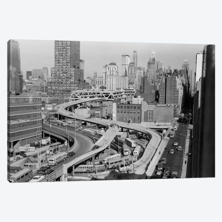 1960s Overhead Of Port Authority Traffic Ramps In New York City USA Canvas Print #VTG445} by Vintage Images Art Print