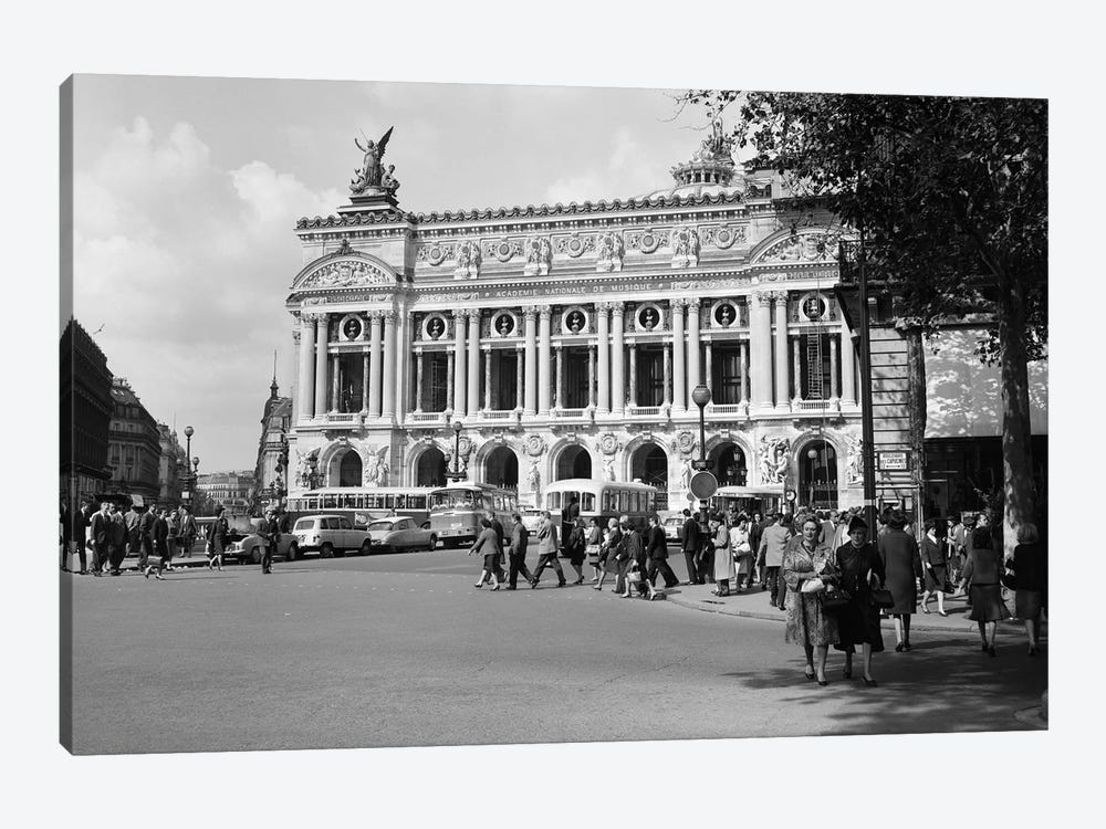 1960s Palais Garnier At Place de l'Opera Paris France by Vintage Images 1-piece Canvas Art