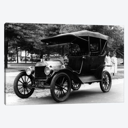 1920s Model T Ford Touring Car Automobile On Display During Parade Canvas Print #VTG44} by Vintage Images Canvas Print