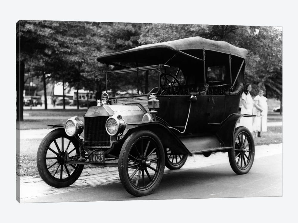 1920s Model T Ford Touring Car Automobile On Display During Parade by Vintage Images 1-piece Canvas Artwork