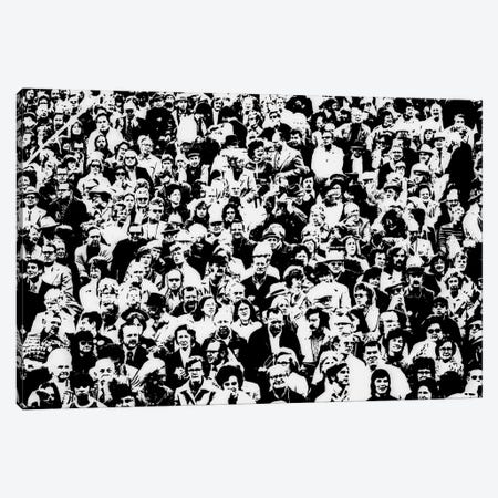 1960s Posterization Of Large Crowd In Sporting Event Bleachers Canvas Print #VTG452} by Vintage Images Canvas Print