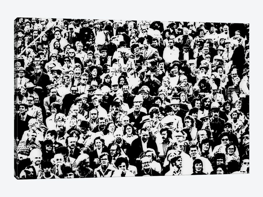 1960s Posterization Of Large Crowd In Sporting Event Bleachers by Vintage Images 1-piece Canvas Art