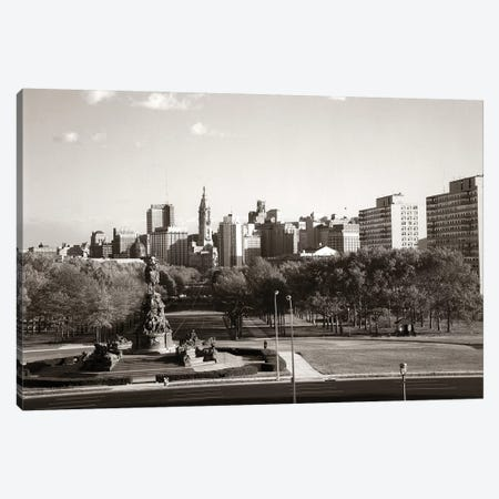 1960s Skyline Philadelphia Pennsylvania USA Canvas Print #VTG459} by Vintage Images Art Print