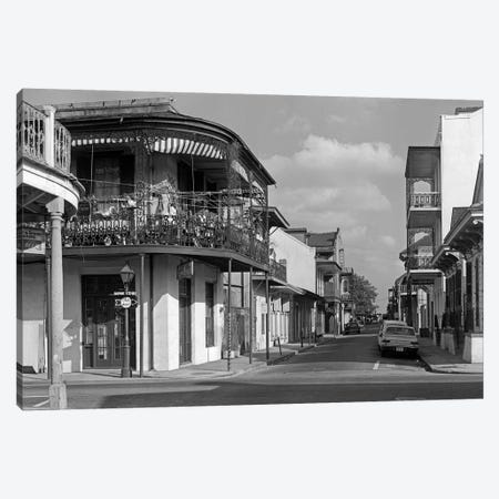1960s Street Scene French Quarter New Orleans Louisiana USA Canvas Print #VTG464} by Vintage Images Art Print
