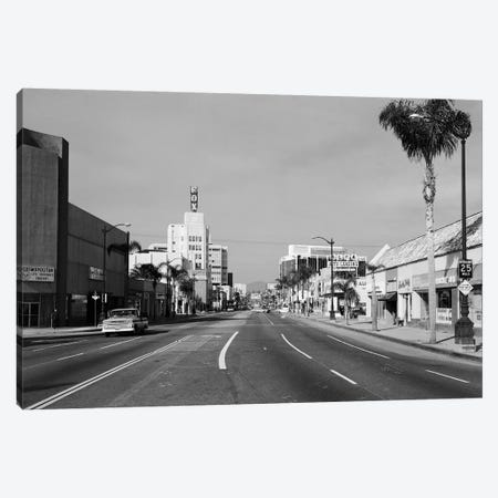 1960s Street Scene West Wilshire Blvd Los Angeles, California USA 3-Piece Canvas #VTG465} by Vintage Images Canvas Art Print