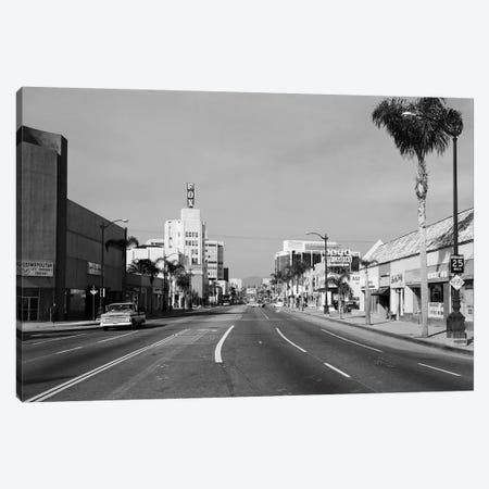 1960s Street Scene West Wilshire Blvd Los Angeles, California USA Canvas Print #VTG465} by Vintage Images Canvas Art Print